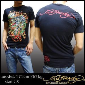 エドハーディー メンズ Tシャツ FLAMING TIGER タイガー ブラック エド・ハーディー ...