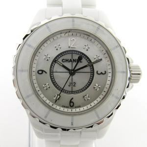 5a06d1c185 シャネル J12 8Pダイヤ/腕時計/レディース ステンレススチール(SS)xセラミック H2422 ランクA