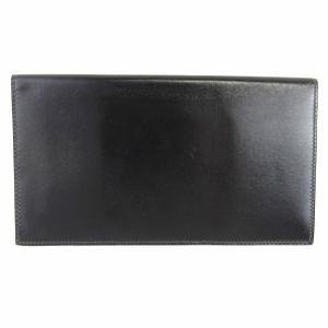 b3bb0ddd043a エルメス 【おすすめ!】長札入れ/メンズ 長財布 ブラック ボックスカーフ ランクA