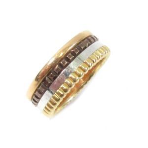 9a0023b1cd ブシュロン キャトル クラシックリング/SALE 指輪 ゴールドXブラウンXシルバーXピンクゴールド K18PG(750)ピンクゴールド XK18YGXK18PG