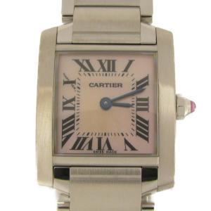 カルティエ タンクフランセーズSM 腕時計 ウォッチ ステンレススチール(SS)×シェル W51028Q3 ランクA|cruru