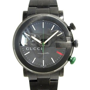 0cadd1ea83a6 グッチ Gラウンドクロノグラフ 腕時計/メンズ ステンレススチール(SS)/PVDコーティング 101M ランクA