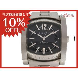 【特価商品】ブルガリ アショーマ 腕時計/メンズ ステンレススチール(SS) AA48S ランクA