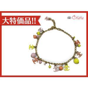 【特価商品】シャネル アクセサリー ブレスレット マルチカラー メタル(メッキ)×プラスチック  ランクB|cruru