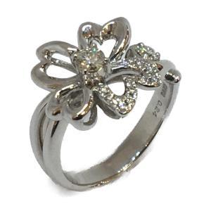 ジュエリー ジュエリー ダイヤモンド 指輪 リング 白系 K18WG(750)ホワイトゴールド×ダイヤモンド(0.24ct)  ランクA 11号 cruru