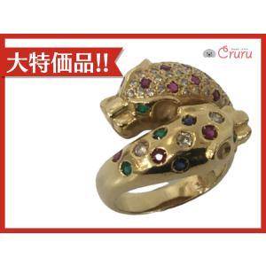 ジュエリー ジュエリー マルチ パンサー ダイヤモンド 指輪 リング ゴールド系  ランクA 16号 cruru