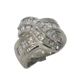 ジュエリー ジュエリー ダイヤモンド 指輪 リング 白系 PT900(プラチナ)×ダイヤモンド(2.85ct)  ランクA 11号 cruru