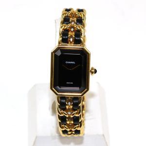 シャネル プルミエールXL ウォッチ 腕時計 レザーベルト x GP   ランクA|cruru