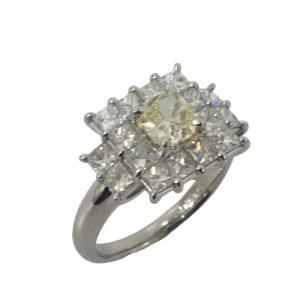 ジュエリー ジュエリー ダイヤモンド 指輪 リング PT900(プラチナ)×ダイヤモンド(0.887/2.094ct)  ランクA 15.5号 cruru