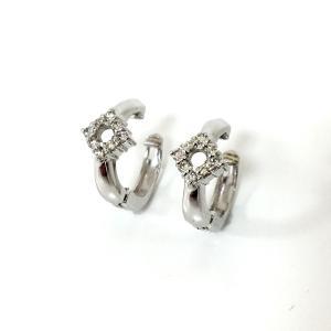ジュエリー ジュエリー ダイヤモンド イヤリング シルバー系 K14WG(585) ホワイトゴールド×ダイヤモンド(0.1ct×2)  ランクA|cruru