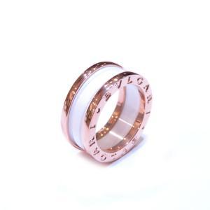 ブルガリ B-zero1 リング Sサイズ 指輪 レディース K18PG(750)ピンクゴールド×ホワイトセラミック  ランクA #48/7.5号|cruru