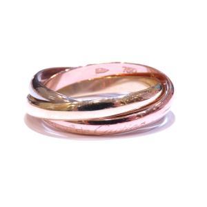 カルティエ トリニティリング 指輪 レディース  K18YG(750)イエローゴールド×ピンクゴールド×ホワイトゴールド  ランクA #54/13号|cruru