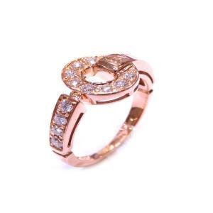 ブルガリ ブルガリ ダイヤリング 指輪 レディース K18PG(750)ピンクゴールド×ダイヤモンド 46208 ランクA 8号|cruru