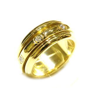 ピアジェ ポセション リング7PD 指輪 レディース K18YG(750)イエローゴールド×ダイヤモンド  ランクA #54/14.5号|cruru
