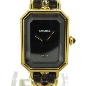 シャネル プルミエールS ウォッチ 腕時計 レザーベルト×GP H0001 ランクA|cruru