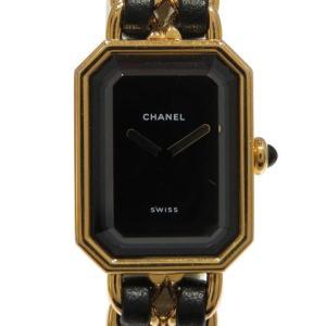 シャネル プルミエールXL ウォッチ 腕時計 レザーベルト×GP  ランクA|cruru