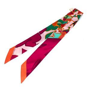 エルメス トゥイリー スカーフ レディース カシス系×オレンジ系×ピンク系×グリーン系 シルク100%  ランクS cruru