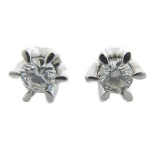 ジュエリー ダイヤモンドピアス  シルバー K18WG(750)ホワイトゴールド×ダイヤモンド 0.33ct/0.405ct  ランクA|cruru