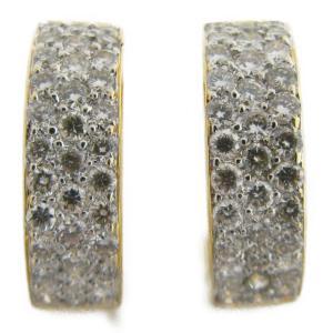 ジュエリー ダイヤモンドピアス ゴールド K18YG(750)イエローゴールド×K18WG×ダイヤモンド 1.20ct  ランクS|cruru