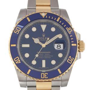 ロレックス サブマリーナ K18/SS メンズ 腕時計 ウォッチ 青系 K18YG(750)イエローゴールド×SS(ステンレススチール) ランクA|cruru