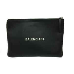バレンシアガ ショッピングクリップM クラッチバッグ レディース 黒系 牛革(カーフ) 485110 ランクA|cruru