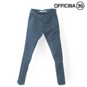 OFFICINA 36(オフィチーナトレンタセイ)ベーシックテーパードチノパン・ブルー|crux|03
