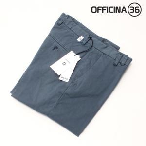 OFFICINA 36(オフィチーナトレンタセイ)ベーシックテーパードチノパン・ブルー|crux|06