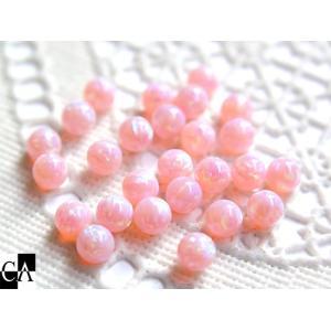 丸玉 穴なし 4mm 【桜色(さくら)】1個|crystal-aglaia