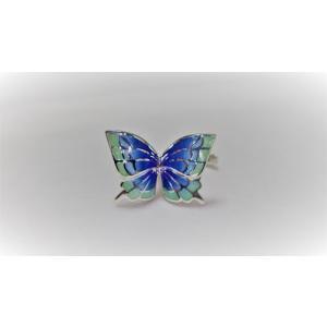 蝶のリング 青 crystal-aglaia