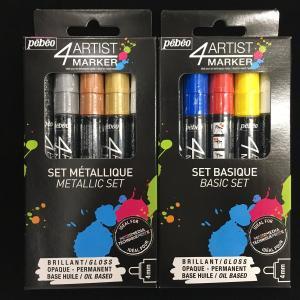 【pebeo】 4ARTIST MAKER 5色セット ベーシックカラー&メタリックカラー|crystal-aglaia
