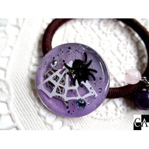 ハロウィン ヘアゴム(蜘蛛) crystal-aglaia