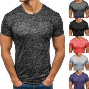 6colorメンズTシャツ 無地 メンズ UネックTシャツ 半袖 無地 半袖Tシャツ インナー|crystal-kobe888