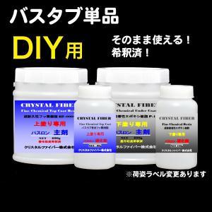 浴室修復塗料 バスロン バスタブ単品用 塗布剤 選べる10色|crystalfiber