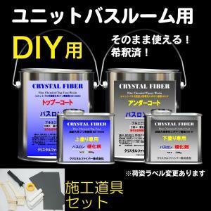 浴室修復塗料 バスロン ユニットバスルーム用と施工道具セット 塗布剤 選べる10色|crystalfiber