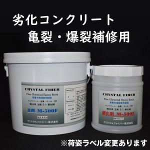 エポキシ塗布剤 M−500F 6kg コンクリートのクラック補修、長寿命化へ|crystalfiber