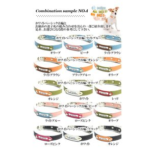 迷子札 犬 首輪 名前入りレザー製 犬首輪 犬の首輪|crystalpoint|11