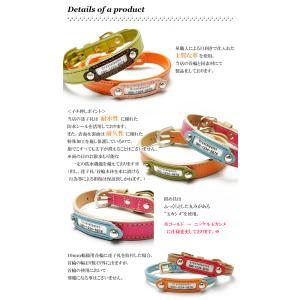 迷子札 犬 首輪 名前入りレザー製 犬首輪 犬の首輪|crystalpoint|05