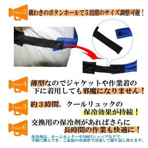 熱中対策 暑さ対策 冷却ベスト COOLRUCK クールリュック|csf-yamamoto|06