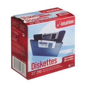 イメーション 3.5インチFD DOS/Vフォーマット10枚入 紙箱×1 US仕様品 MF2HD-WIN-10KS|csh