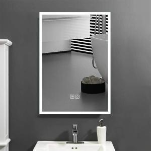 Beautimira LED ミラー 洗面所 ledライト付浴室鏡 洗面台 照明付き 壁掛けタイプ 防曇 防水 おしゃれ ledミラー (白光50x70cm) csh