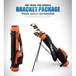AKOZLIN ゴルフ クラブケース 9本収納 セルフスタンド キャリー クラブ ケース スタンド式クラブケース フード&大型ポケット付きゴルフバッグ 超軽量 低重心 安 csh