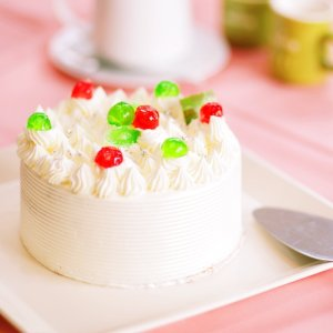バタークリームケーキ 8号 直径24cm 約10〜12名用 ホールケーキ 冷凍便 送料無料 csidoabata