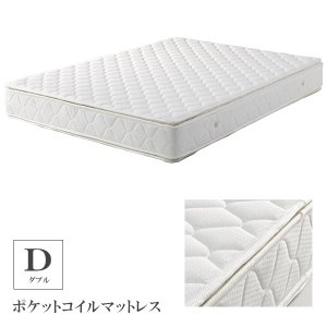 マットレス ダブル ポケットコイル ポケットコイルマットレス ベッド用 ダブルマット ダブルサイズ 寝具|csinterior