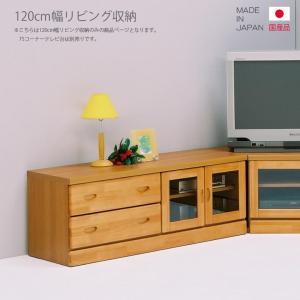 リビング収納 テレビ台 テレビボード ローボード 完成品 国産 幅120cm ナチュラル ブラウン|csinterior