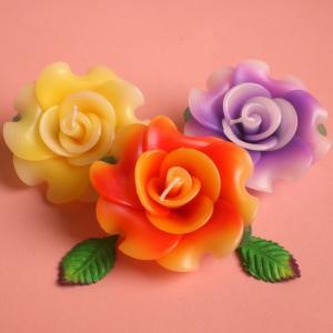 ローズ フローティングキャンドル アソート 12個入り / 水に浮かぶ 香りつきアロマキャンドル 1個あたり206円 薔薇 csselect