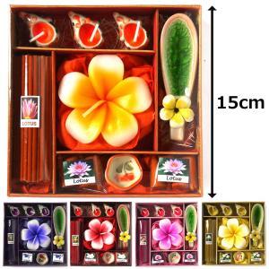アロマギフトBOX Lサイズ  / 退職ギフトお返しプチギフト アロマキャンドルとお香が入ったアロマグッズのセット 7色から選べます ゴールドのリボン無料|csselect