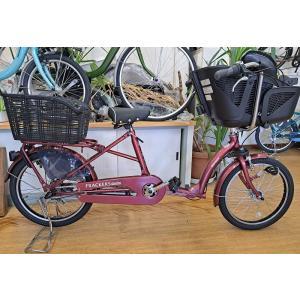 《大特価》丸石ふらっかーず アクティブ (ブラウニーレッド) 子供乗せ自転車 (幼児リアチャイルドシート装備車)