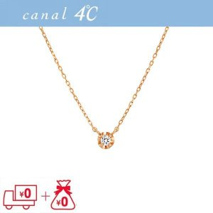 4℃ ヨンドシー ネックレス カナル ダイアモンド K10 ...