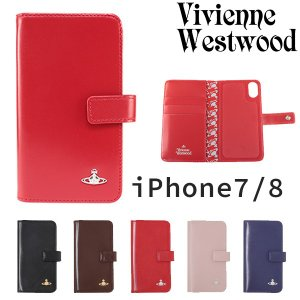 ヴィヴィアンウエストウッド レディース iPhoneケース 手帳型 iPhone7/8対応 ヴィンテ...