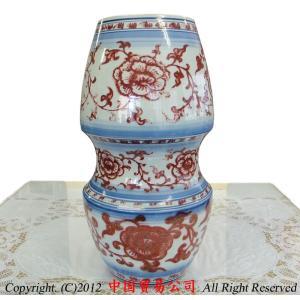 景徳鎮花瓶 景徳鎮 釉里紅広口瓶|ctcols
